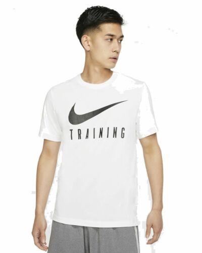Nike Herren Sportshirt Fitnessshirt Freizeitshirt T-Shirt NIKE DRY TEE weiß