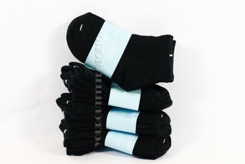 2-4 Kid/'s Toddler Ankle Cut Solid Black Socks Spandex Cotton New Boy/'s Girls New