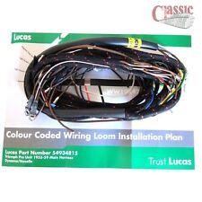 Lucas Main Wiring Loom Triumph Pre Unit Models T100, T110, T120 Magneto, Dynamo