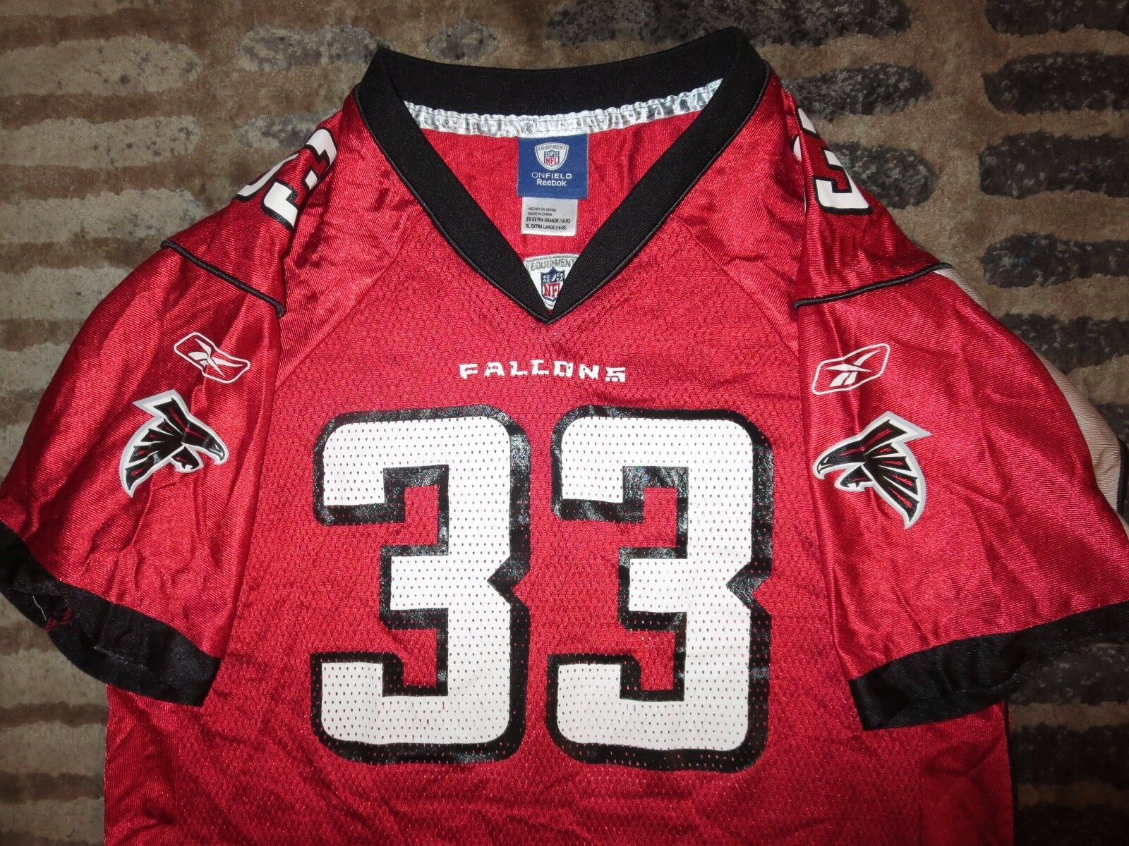 Atlanta Falcons  33 Turner Reebok Rot Ausgabe NFL Trikot Trikot Trikot Jugendliche 486e43