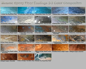 Metallic Mica Epoxy Concrete Garage Floor Countertop Paint
