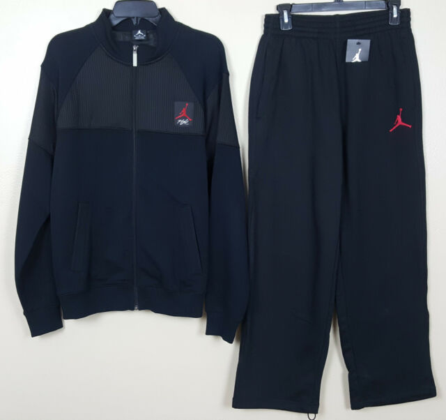 info for 215f4 16223 NIKE JORDAN IV 4 CAGED FLIGHT SWEATSUIT JACKET +PANTS BLACK RED RARE (SZ  MEDIUM
