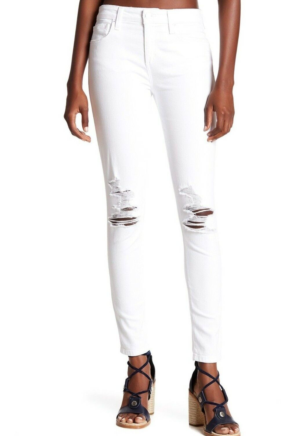 Nwt JOE´S Sz25 die Eng Anliegende Knöchel Midrise Jeans Stretch Distressed