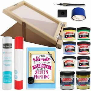 Silhouette-Cameo-Screen-Printing-Bundle-with-Extra-Paints-and-10-Inch-x-14-Inch