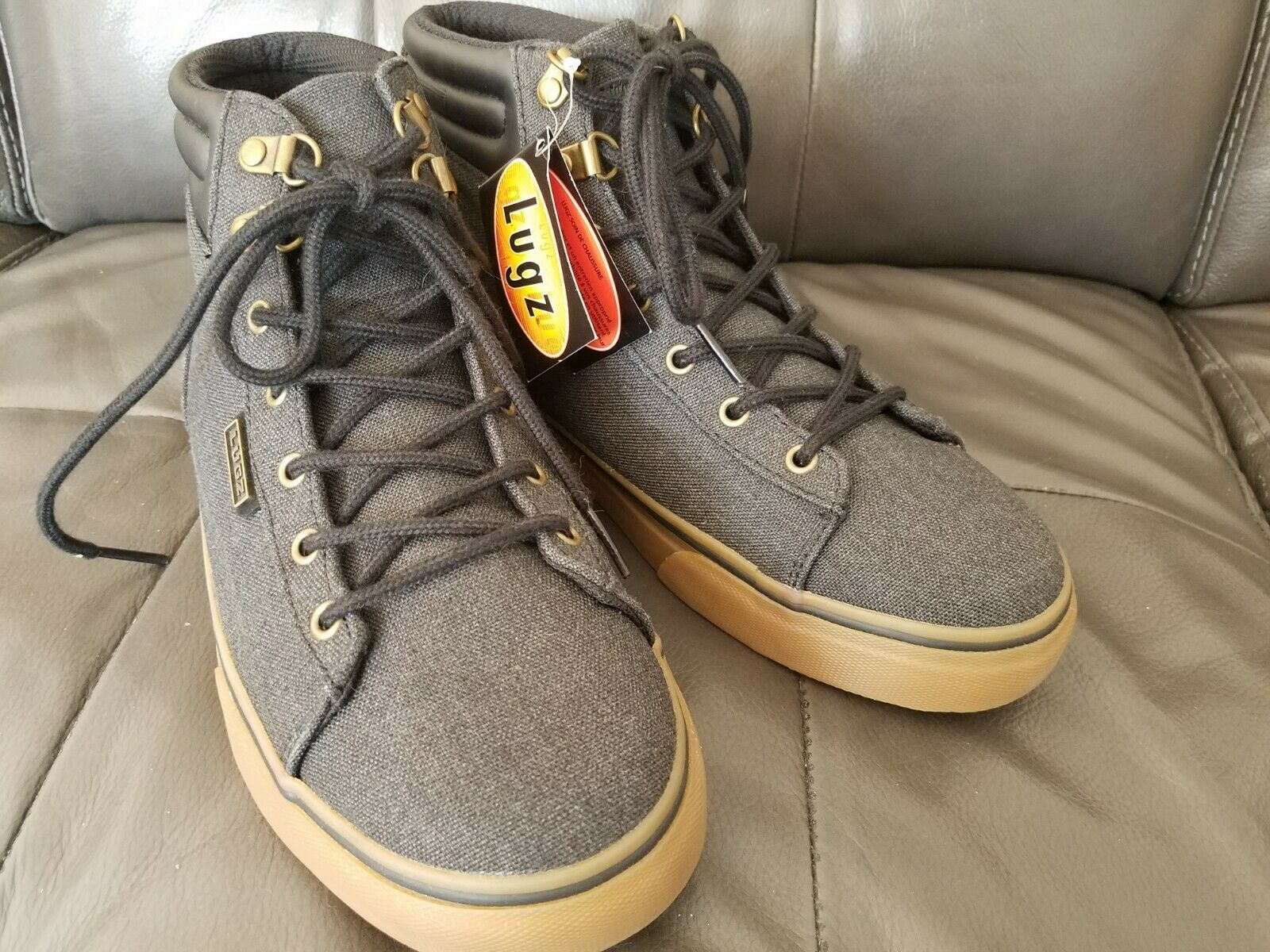 NEW LUGZ High Top Lace up Sneakers Men's Shoes Size 8.5 Gray MALLTC-002