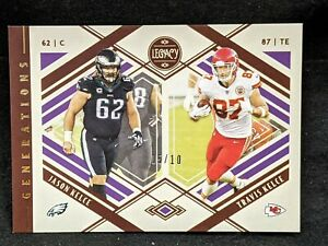 2021 Panini Legacy Generations #G-6 Jason and Travis Kelce Parallel 05/10!!