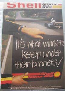 Werbung-aus-alter-Zeitschrift-Shell-Motor-Oils-It-039-s-what-winners-keep-under