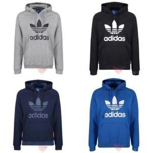 Chargement de l image en cours Adidas-Originaux-Trefle-Capuche -Bleu-Marine-Noir-Gris- 6acf6b377a1d