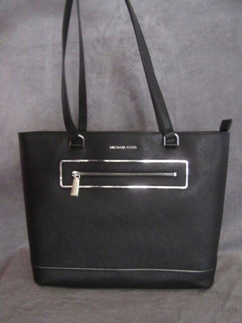 d0e2e6b0972e MICHAEL KORS Frame Out Item Large North South Leather Purse Tote Handbag NWT