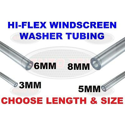 Windscreen Screen Washer Jet Tube Hose Pipe PVC Clear Plastic 3mm 5mm 6mm 8mm