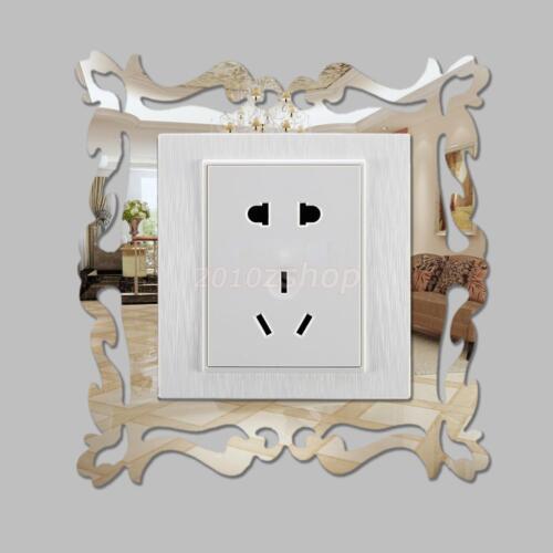 4xSchaltertattoo Wandtattoo Lichtschalter Steckdosen Spiegel Blume Rebe DIY