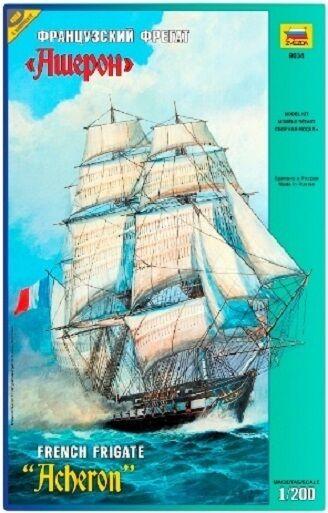 ZVEZDA 9034 - French Frigate ACHERON - Sailing Ship   Scale Model Kit 1 200
