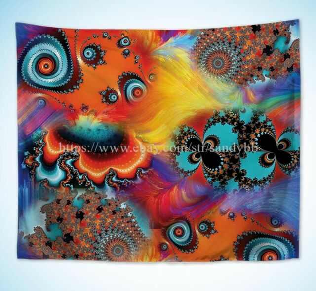 US Seller hippie  modern wall art psychedelic trippy art wall tapestry