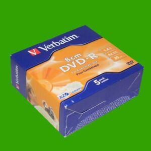5-Stueck-Verbatim-DVD-R-Rohlinge-30-min-8-cm-1-4-GB-4x-Speed-Neu-fuer-Camcorder