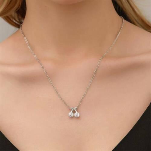 Fashion Charm Jewelry Pendant Chain Choker Statement Cherry Necklace T