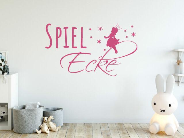 Wandtattoo Kinderzimmer Spiel Ecke Fee Spielzimmer Aufkleber Fur Madchen Ebay