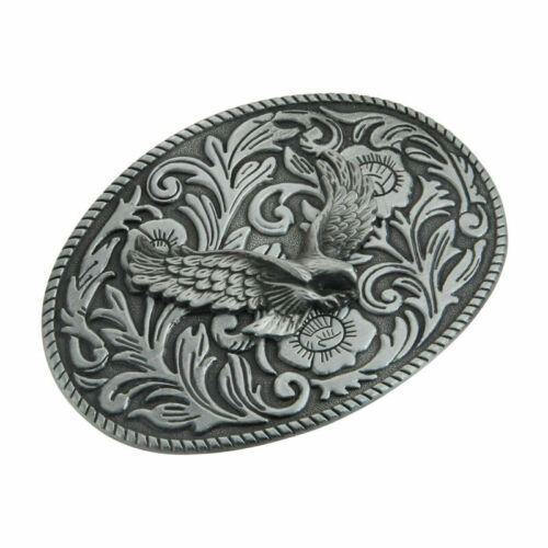 Punk Men Copper Zinc Alloy Belt Fastener Buckle Head Eagle Oval Buckle Head New