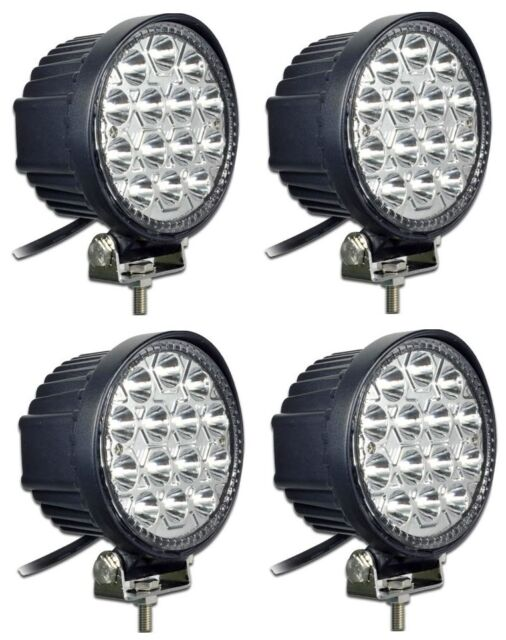 4x 42W LED Work SPOT Light Lamp OffRoad Jeep Truck Hummer Ford Toyota Round 12V