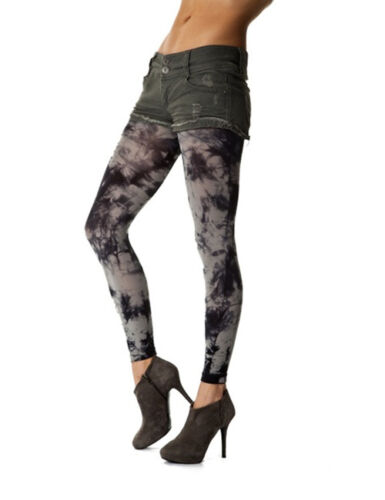 Grey Tie Dye Footless Tights
