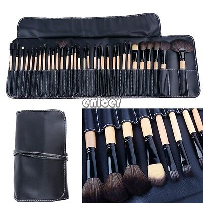 32 pieza Pinceles de Maquillar Brocha Maquillaje Cosmético Makeup Brush Kit Set