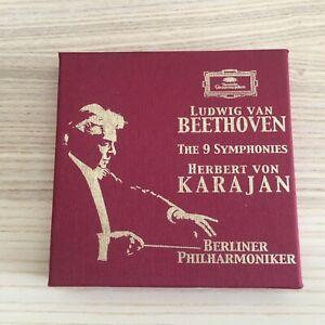Karajan _ Beethoven The 9 Symphonies _ 5 X CD BoxSet _ 2004 Deutsche ADD RARE!