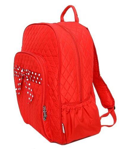 Large Quilted Monogrammable Child Girl School Bookbag Ladies Microfiber Backpack