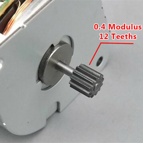 NMB DC 5V 35mm Round Thin 2-phase 4-wire Micro Stepper Motor 12T Gear 7.5°//Step