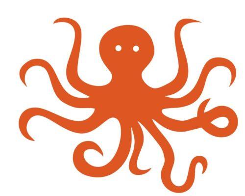 Vinyl Sticker Cute Octopus 854 Decal Custom Made to Order