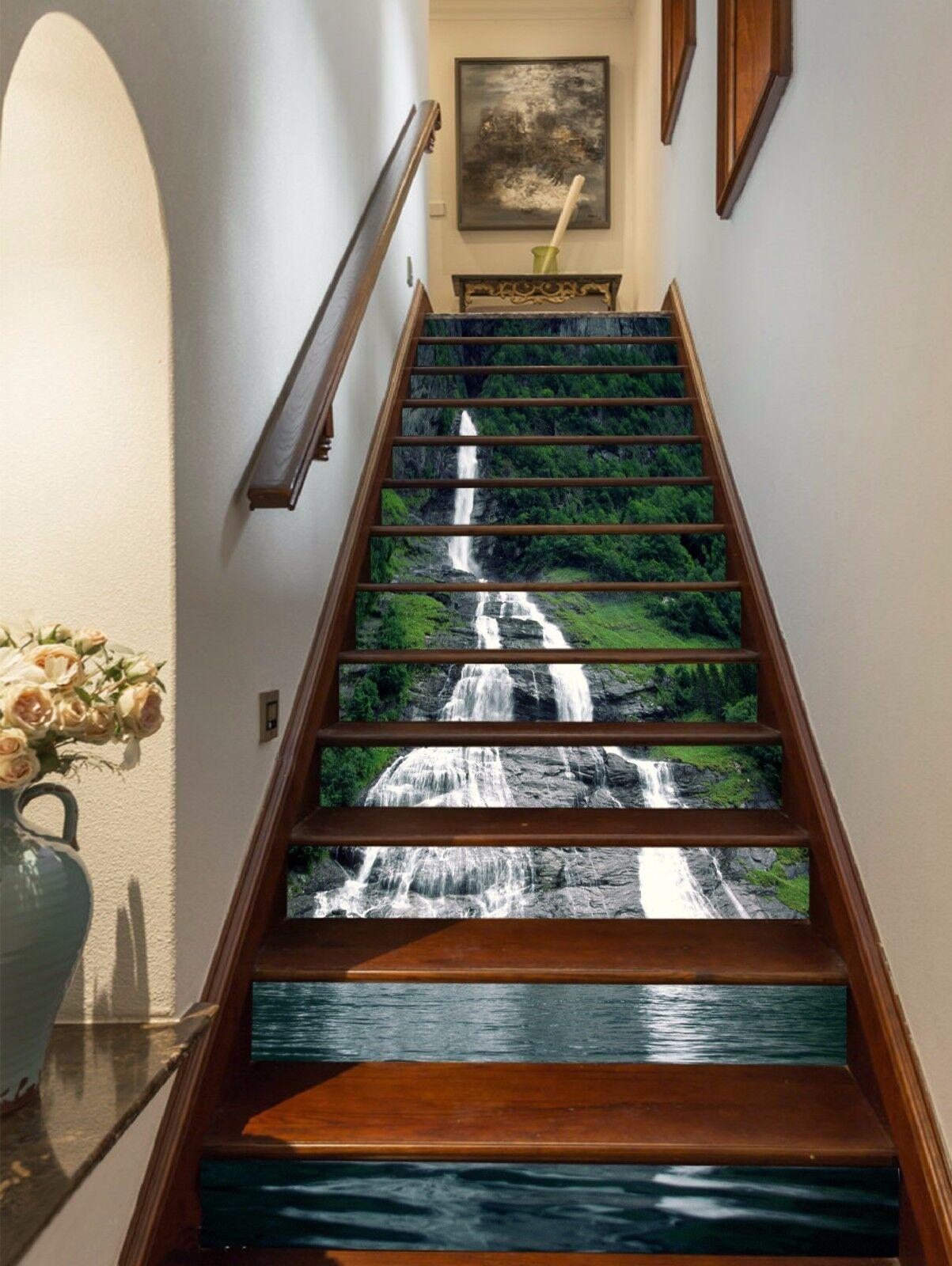 3D Slim Falls 148 Stair Risers Decoration Photo Mural Vinyl Decal WandPapier AU