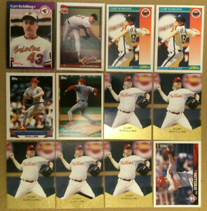 Curt Schilling LOT of 12 Rookie & base cards RC NM+ 1989-1997 Future HOF Orioles