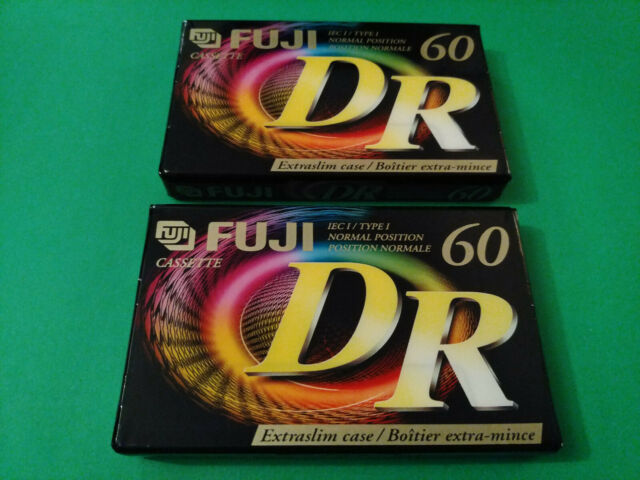 lot of 2 Fuji DR 60 TYPE I NEW SEALED cassettes 1998 Canada / USA Edition
