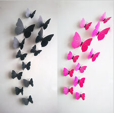DIY 3D Pretty Butterfly Wall Sticker Decal Home Decor Art Room Decoration Rose