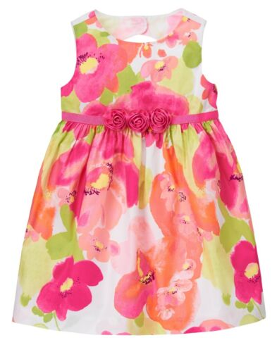NWT Gymboree FAMILY BRUNCH Girls Size 2T 3T Floral Poppy Lined Dress Easter