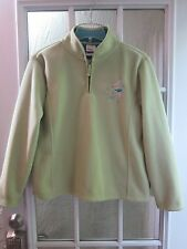 Disney Store Green Embroidery Tinker Bell 1/3 Zip Up Fleece Jacket *Women S **
