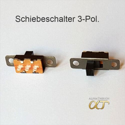 2 5 Ein Aus 4 mm 20 x Stück 3 Pin Schiebeschalter Miniatur Micro 10