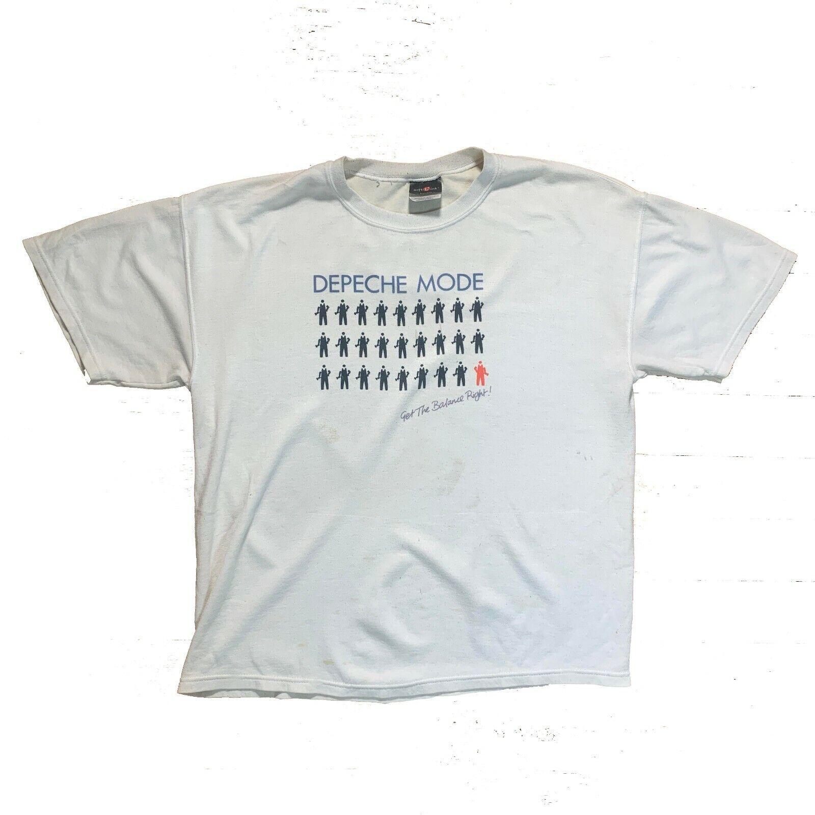Vintage 00s Depeche Mode Get The Balance Right T-Shirt
