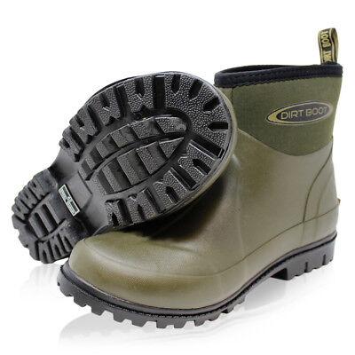 Dirt Boot Neoprene Wellington Garden Wellies Stable Yard Ankle Mucker Boots