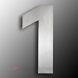 hausnummer modern edelstahl hausnummer hochwertig edelstahl gro ebay. Black Bedroom Furniture Sets. Home Design Ideas