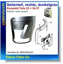 Gehäuse Seitenteil Türe rechts, dunkelgrau, Saeco Odea Go, Nr.996530002423