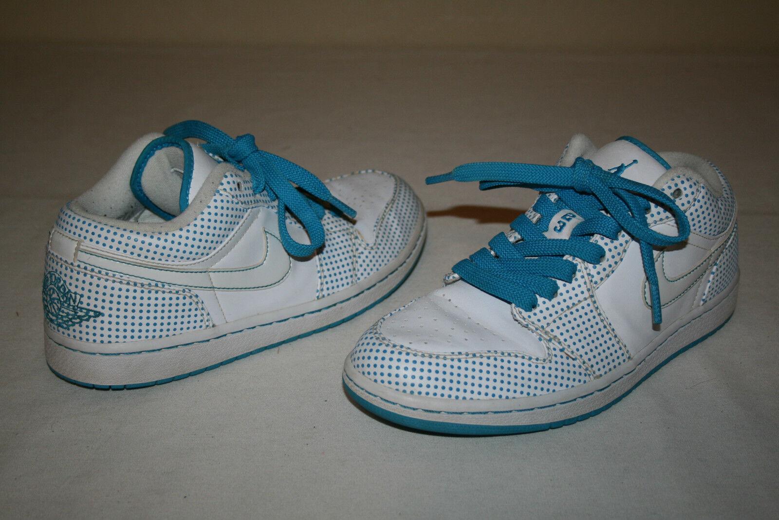 Jordans Nike Air Jordan Mens Sz 8 White Teal Low Top Basketball Shoes VERY NICE Special limited time