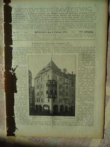 1906 Munich Schiller Rue Gunzerthaus-afficher Le Titre D'origine