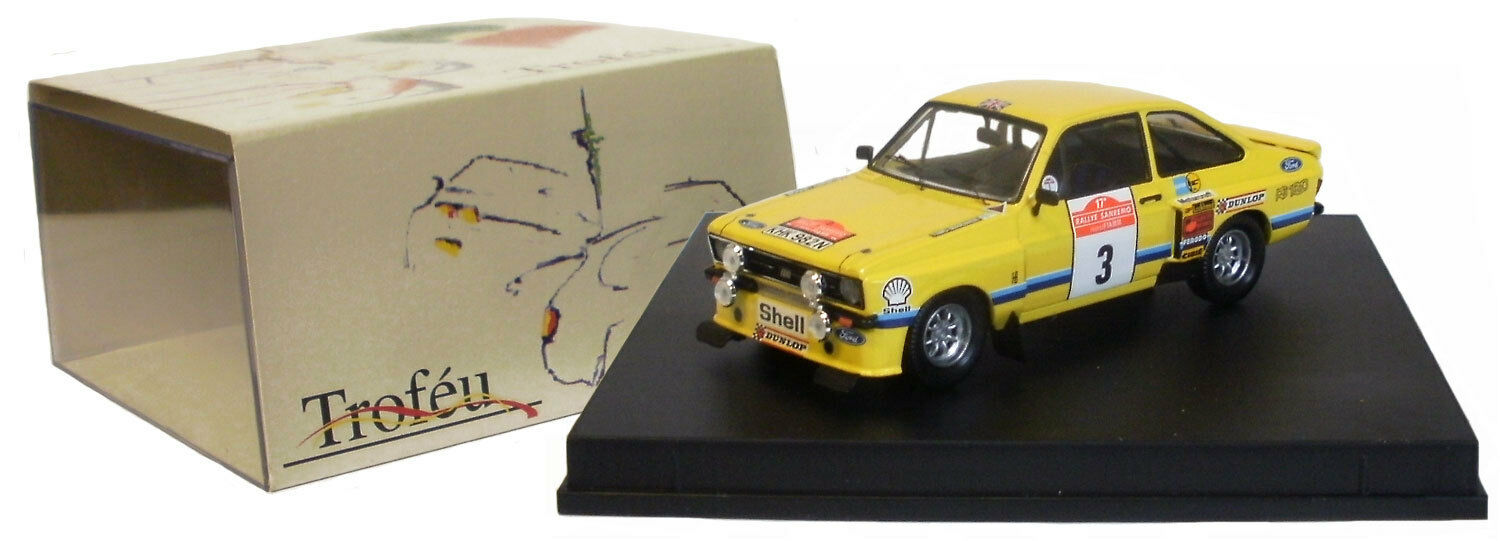 Trofeu 2502 Ford Escort RS1800 San Remo Rally 1975 - T Makinen 1 43 Scale