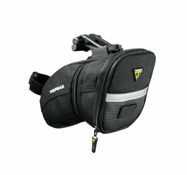TOPEAK AERO WEDGE LARGE BLACK BICYCLE SEAT SADDLE BAG PACK W// STRAPS