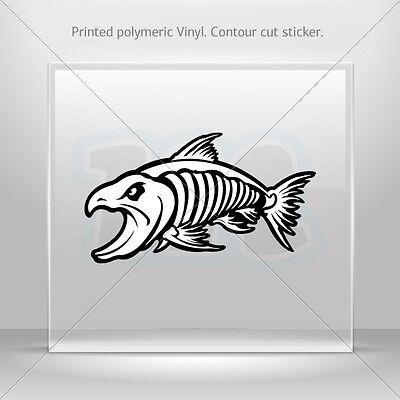 Sticker Decal Aggressive Fish Skeleton Atv Bike Garage bike st5 XR28W
