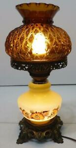 Vtg Electric Hurricane Lamp With Light