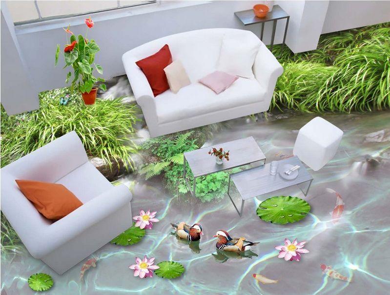 3D fish stone water 4479 Floor WallPaper Murals Wall Print Decal 5D AJ WALLPAPER