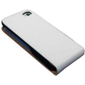 iPhone-4-Ledertasche-weiss-Tasche-Case-Huelle-Case-Etui-Cover-Schutz-4s-4g-TOP-w4w
