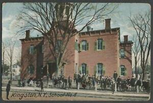 Kingston-NY-1906-Postcard-SCHOOL-NO-8-aka-Sojourner-Truth-Childrens-Library