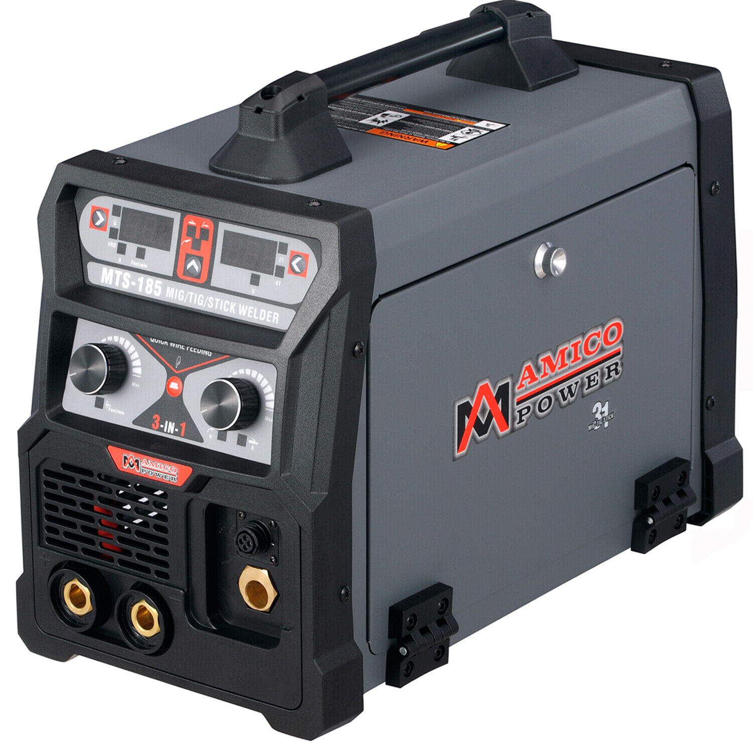 MTS-185 Amp MIG/Flux Cored, TIG Torch, Stick ARC 3-IN-1 Combo Welder, 110/230V. Buy it now for 437.00