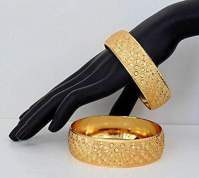 Ethnic Indian Bangels Jewelry Bollywood Fashion Gold Plated Set